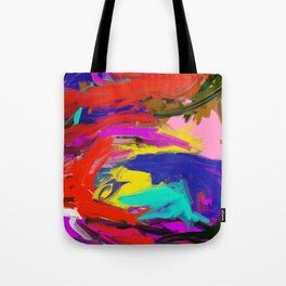 Rainbow Abstract II Tote Bag