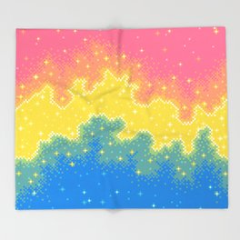 Pan Pride Flag Galaxy Throw Blanket