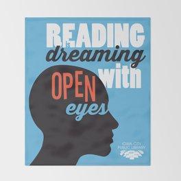 Open Eyes - Iowa City Public Library Throw Blanket