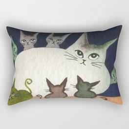 Nebraska Whimsical Cats Rectangular Pillow