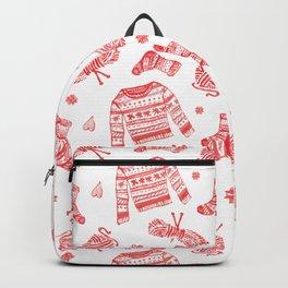 Hygge Knit Sweaters + Yarn Backpack