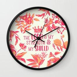 Shield (Green Version) Wall Clock