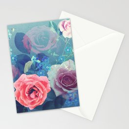 Pretty Assorted Roses Art Stationery Cards