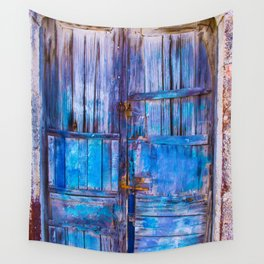 Old Door,Santorini Wall Tapestry