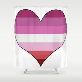 Lesbian Heart Shower Curtain