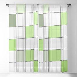 A Green Building Sheer Curtain