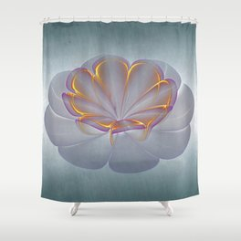 One Flower Shower Curtain