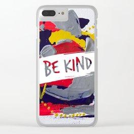 Miniature Original  - be kind Clear iPhone Case