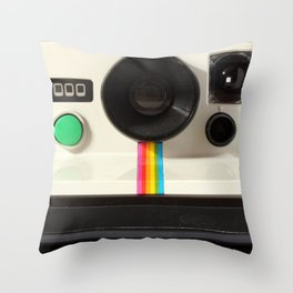 Retro 80's objects - Instant Camera Throw Pillow