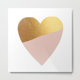 Heart of Gold (and Millennial Pink) Metal Print