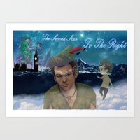 larry stylinson Art Prints featuring Larry Stylinson-Peter Pan  by MADEINTHEAM