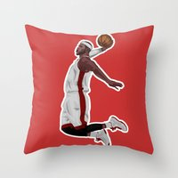 lebron Throw Pillows featuring Lebron James by siddick49