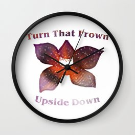 Turn that frown upside down Wall Clock