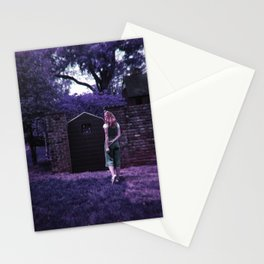 Alice Looking through Lavender Doorways  - Holga Film Photograph Stationery Cards