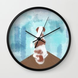 Deschutes The Brittany Spaniel Wall Clock
