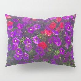 Purple Petunias Pillow Sham