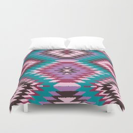 Navajo Dreams - Turquoise Duvet Cover
