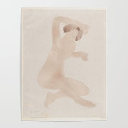 Auguste Rodin Nude Figure Lithograph #9 Poster