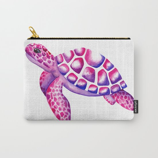 Watercolour Sea Turtle Carry-All Pouch