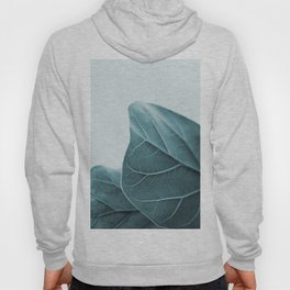 Teal Plant Leaves Hoody