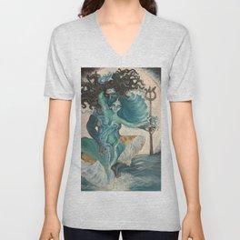 lord shiva and parvati Unisex V-Neck