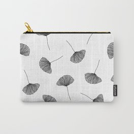 B&W Ginko Leaves Carry-All Pouch