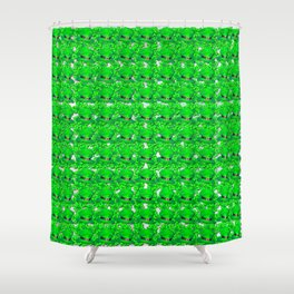 Green hat and four leaf clovers lucky for some Shower Curtain