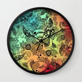 Rainbow Jungle Wall Clock
