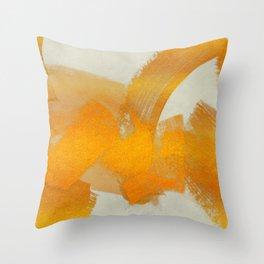 Brush stroke gold Throw Pillow