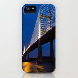 Dames Point Bridge at Twilight iPhone Case