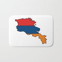 Armenia Map with Armenian Flag Bath Mat