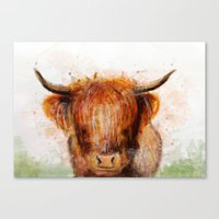 cow Canvas Prints featuring Cow by emegi