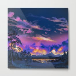 Night Sky Sunset Metal Print