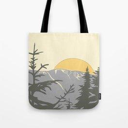 Ski Mountain Sun and Trees - Breckenridge  Tote Bag