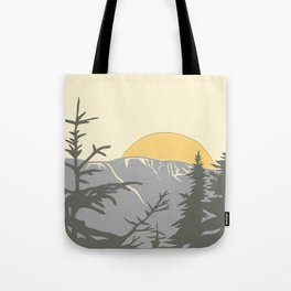 Ski Mountain Sun and Trees - Breckenridge  Tote Bag