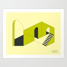 EMERGENCY EXITS (3) Art Print