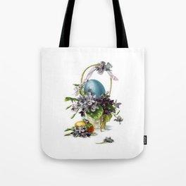 Vintage Easter Basket Tote Bag