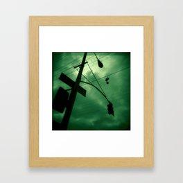 Shoes and Wires Framed Art Print