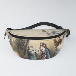 Raphael's Prophetic Almanack: an shipwreck, Cholera, and Hibernia with Britannia (1872) Fanny Pack