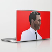 mad men Laptop & iPad Skins featuring Mad Men star Don Draper by LaRochelle Designs