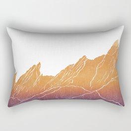 Colorado Mountain Ranges_Boulder Flat Irons Rectangular Pillow