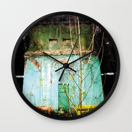 Nature finds the way inside... and outside... Wall Clock