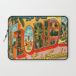 Greetings From Florida Laptop Sleeve
