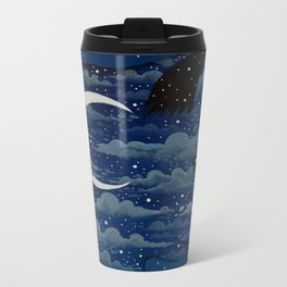 LUNA CAT by Raphaël Vavasseur Metal Travel Mug