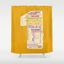 Life Path 1 (color background) Shower Curtain
