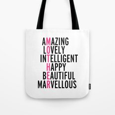 Mother Quote Tote Bag