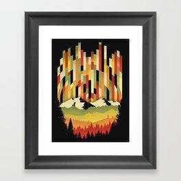 Sunset in Vertical Framed Art Print