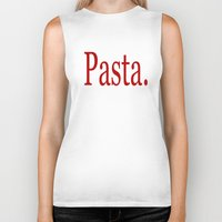 pasta Biker Tanks featuring Pasta by Pan Fox Productions