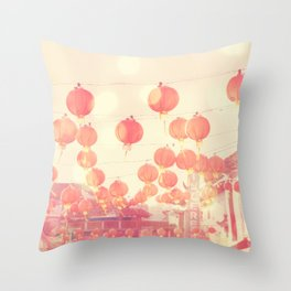 Chinatown. Los Angeles photograph Throw Pillow