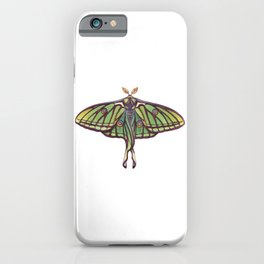 Spanish Moon Moth (Graellsia isabellae) iPhone Case